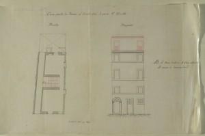 0cfeb13100-Archivio Capitolino - Pianta Prospetto Palazzo